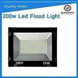Quality Motto 200 Watt Ultra Thin Slim IP66 LED Flood Outdoor Light Cool White Waterproof