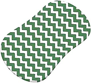 product image for SheetWorld Fitted Bassinet Sheet (Fits Halo Bassinet Swivel Sleeper) - Forest Green Chevron Zigzag - Made In USA