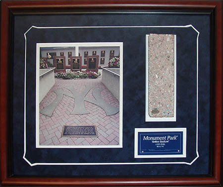 - New York Yankee Stadium Monument Park Photo w/ Brick-16x19