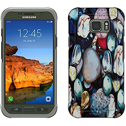 Samsung Galaxy S7 Active Case, Snap On Cover by Trek Colorful Pebbles Slim Case Sales