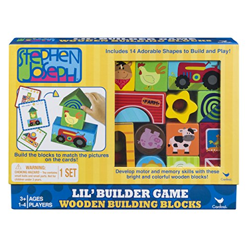 Stephen Joseph Wood Blocks Building Game from Cardinal Games