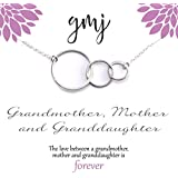 Generations Necklace - Grandma/Grandmother Necklace - Sterling Silver Infinity Circles - Mother's Day Gift Idea