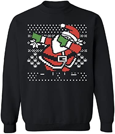 Jurenhq Casual Classic Cartoon Characters Sweaters for Mans Black