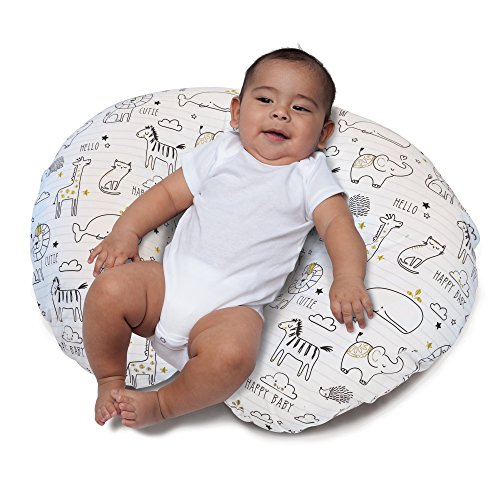 Large Product Image of Boppy Nursing Pillow and Positioner, Notebook Black/Gold