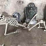 Mictiona Halloween Skeleton Prop Human Full Size