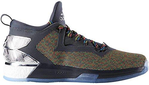 adidas D Lillard 2, Zapatillas de Baloncesto para Hombre Gris oscuro- Blanco (Dark Grey-Chalk White)