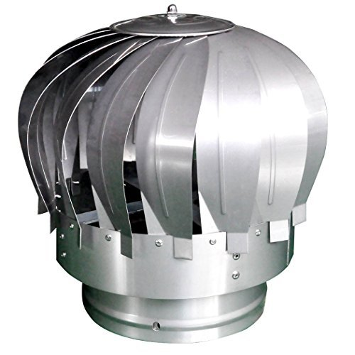 Stainless Steel Rotating Spinning Chimney Roof Flue Cowl Spinner Chimney by - Roof Cowl