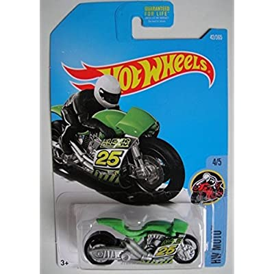 Hot Wheels 2020 HW Moto Street Stealth (Motorcycle) 42/365, Chrome and Green: Toys & Games