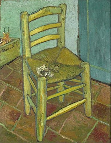 'Vincent Van Gogh - Vincent's Chair With His Pipe,1888' Oil Painting, 30x39 Inch / 76x98 Cm ,printed On High Quality Polyster Canvas ,this Vivid Art Decorative Prints On Canvas Is Perfectly Suitalbe For Bathroom Decor And Home Artwork And Gifts