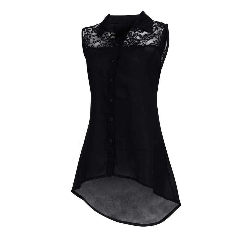 Oyedens Taglie Forti Tank Tops Donna Casual T-Shirt Estate Canotte Moda Maglietta Tops Senza Maniche Cerniera Camicetta Crop Cami V-Collo Shirt Loose Tee Plus Size Blouse
