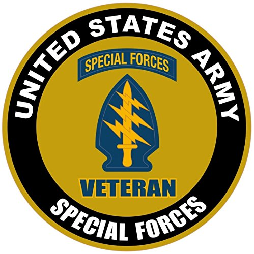 1 Pc Paradisiacal Popular US Army Veteran Special Forces Sticker Sign Proudly Indoor Outdoor Size 12