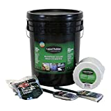 Liquid Rubber Waterproof Sealant 5G Kit - Original Black - Includes 5G Pail, Liquid Rubber 4'' x 50' Seam Tape, Brushes and Gloves