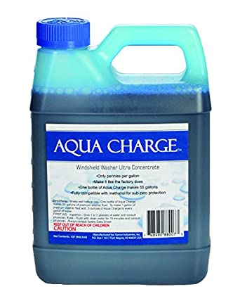 Aqua carga Ultra concentrado limpiaparabrisas, 1 Quart hace 55 galones producto terminado: Amazon.es: Amazon.es