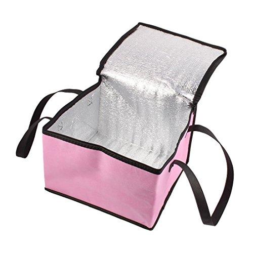 Amazon.com: eDealMax Fuera sostenedor de la fruta bebida de leche Square alimentos frescos calientes refrigerador de almacenamiento bolsa de asas rosada: ...