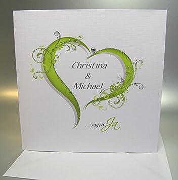 Hochzeitseinladungen 10 Stuck Incl Umschlag Und Einlegeblatter