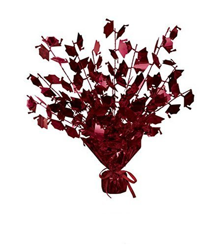 Graduation Cap Gleam 'N Burst Centerpiece (Maroon) Party Accessory (1/pkg) Pkg/6 -
