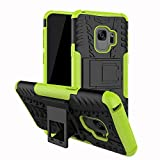 samsung dual monitor stand - Galaxy S9 Case, S9 Case, Moment Dextrad [Built-in Kickstand][Non-slip Design] Dual Layer Hybrid Full-body Rugged [Shock Proof] Case Cover for Samsung Galaxy S9 (5.8 inch) (2018) + Stylus (Greenyellow)