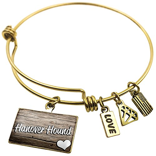 NEONBLOND Expandable Wire Bangle Bracelet Hanover Hound, Dog Breed Germany -