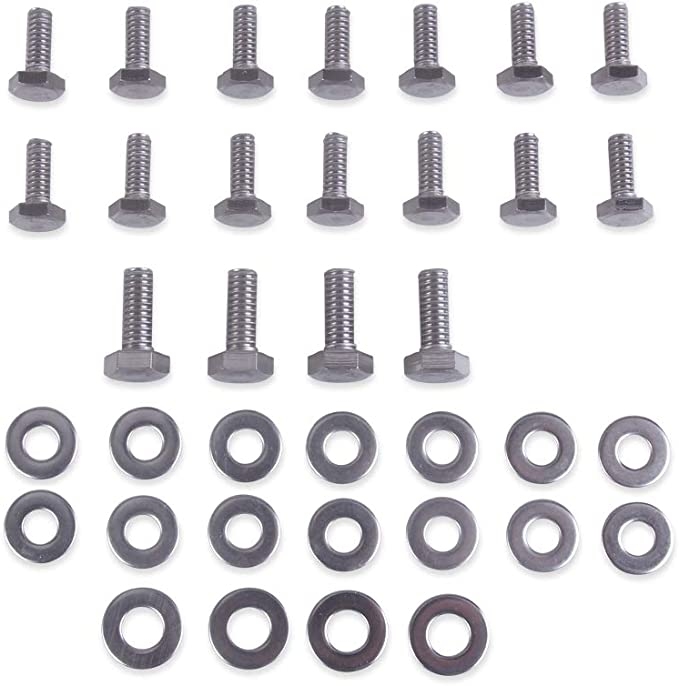 """SBC 283 302 Stainless Steel Header Stud Kit Small block Chevy 1 1//2/"""" Long"""