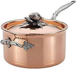 Ruffoni Opus Cupra 3-3/4-Quart Covered Saucepan, Copper