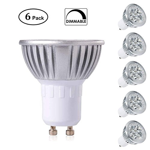 Pocketman GU10 LED Spotlight Bulbs,5W 500LM,3000K Warm White, 30°Beam Angle,Dimmable,MR16 GU10 Base LED Light Bulbs(Pack of 6)