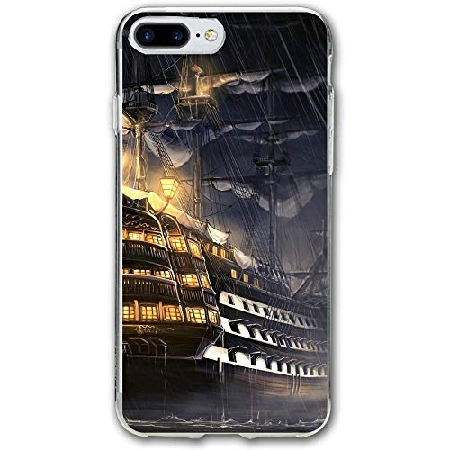 Pirates of The Caribbean Ship Artwork Resistant Cover Case Compatible iPhone 7 Plus iPhone 6 Plus 5.5IN ()
