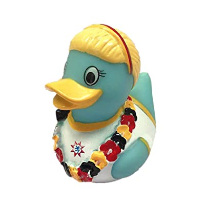 ESALINK 1pc Rubber Duck, Girls Flower Baby Duck Bath Toys Duck Children Toy Gift for Kids Birthday Party Wedding Party: Toys & Games