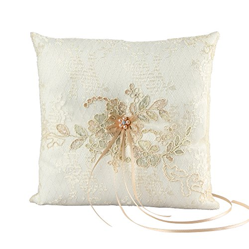 (Florence Wedding Collection, Ring Pillow, Ivory)
