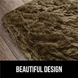 Gorilla Grip Premium Faux Fur Area Rug, 6x9, Fluffy