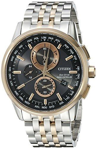 Citizen Men's AT8116-57E World Chronograph A-T Analog Display Japanese Quartz Two Tone Watch