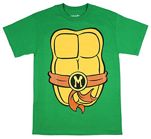 Teenage Mutant Ninja Turtles Adult Costume T-Shirt - Mike Brown (Large) for $<!--$10.98-->