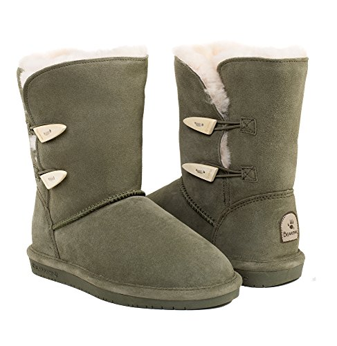 BEARPAW Women's Abigail Shearling Boots 682-W (10 B(M) US, (Low Priced Boots)