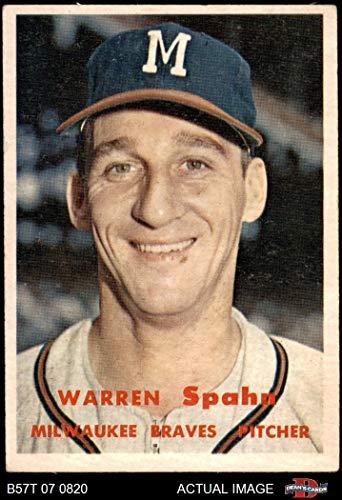1957 Topps # 90 Warren Spahn Milwaukee Braves (Baseball Card) Dean's Cards 3 - VG Braves from Topps