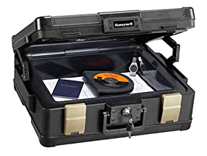 Honeywell Fire-Safe Waterproof Safe Box Chest with Carrying Handle