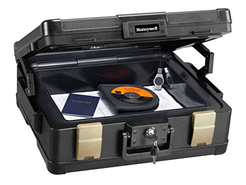 8. Honeywell Fire-Safe Waterproof Safe Box Chest with Carrying Handle