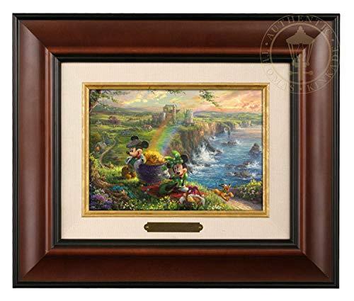 Thomas Kinkade Studios Mickey and Minnie in Ireland 5 x 7 Brushwork (Burl Frame) ()