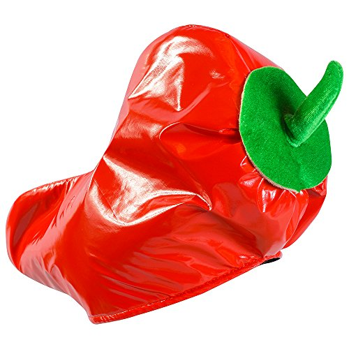 Red Pepper Hat - Adults Cinco De Mayo Party Hats - Novelty Hats by Funny Party Hats (Chili Pepper Hat)