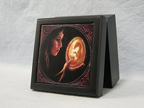 Dragon Tile Box (Fairy Holding Glowing Dragon Egg Tile Box Container)