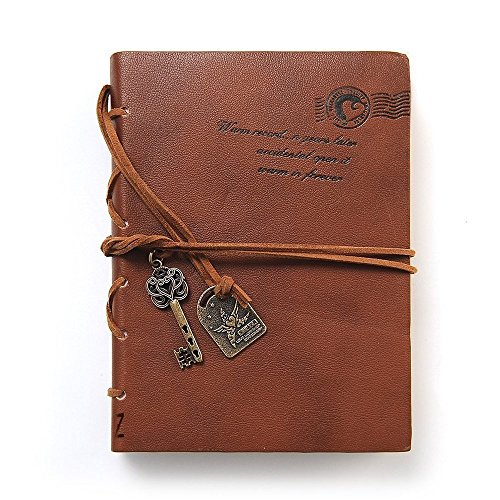 Journal Diary String Key Retro Vintage Classic Leather