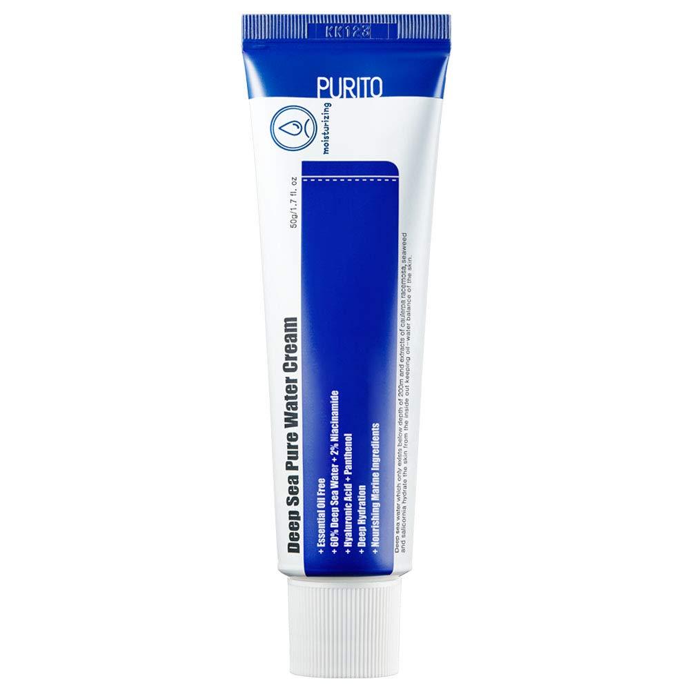 [ESSENTIAL OIL-FREE] PURITO DEEP SEA PURE WATER CREAM 50g/1.7fl.oz, moisture cream for face, facial watery cream, Vegan