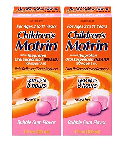 Gum Child Bubble - Motrin Children's Pain Reliever/Fever Reducer Liquid, Bubble Gum, 4 Fl Oz (2 Pack)