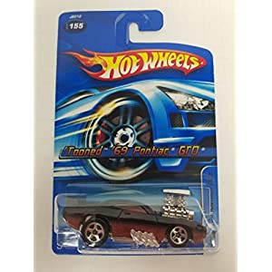'Tooned '69 Pontiac GTO No.155 Hot Wheels 2006 1/64 scale diecast car