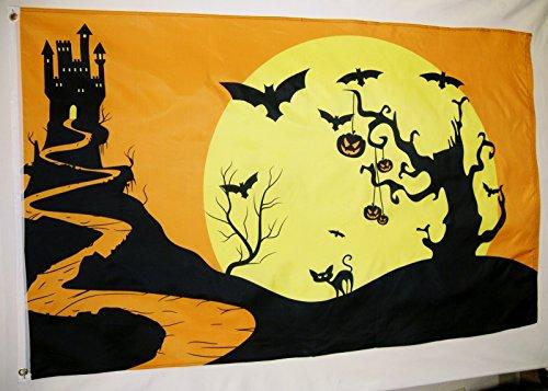 Pumpkin Patch Halloween and Santa Claus Ho Ho Ho 3' X 5' Fla