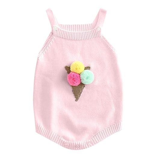 2e599662e6f Amazon.com  Knit Baby Romper