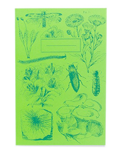 (Cognitive Surplus Bioluminescent Flora & Fauna Screen Printed Softcover Journal Lined College Ruled 100% Recycled Paper, Purple)
