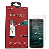 iCarez [Tempered Glass] Screen Protector for LG V10 Easy Install with Lifetime Replacement Warranty - Retail Packaging
