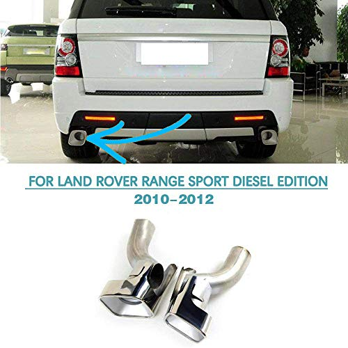 Rover Range Muffler (Jun-star Stainless Steel Muffler Exhaust Tip for Land Rover Range Rover Sport Diesel 2010-2013)