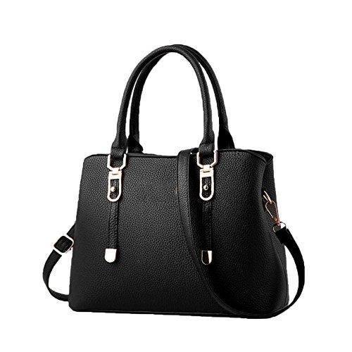 Piccola Borsa Black Grande Donna Capacità Da Tracolla Shopping Handbag Borse 0fEqw1