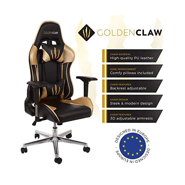 Incredible Goldenclaw Ultra Racing Bucket Seat Office Chair Gaming Chair Ergonomic Computer Chair Esports Desk Chair Executive Chair Velour Pillows Machost Co Dining Chair Design Ideas Machostcouk