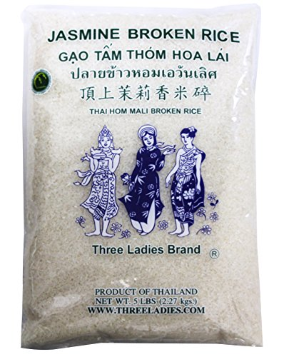 5 Pounds Three Ladies Brand Jasmine Broken Rice (One Bag)